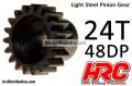 Motorritzel 48DP Stahl leicht